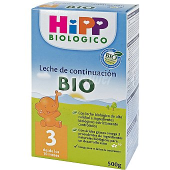 HiPP Biológico Leche de continuación 3 desde los 10 meses Envase 500 g