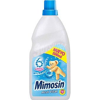 Mimosín suavizante concentrado Azul Vital botella 500 ml 18 dosis
