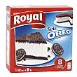 Pastel Oreo Cake para preparar 8 raciones  Estuche 215 g Royal