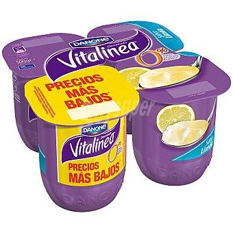 Vitalínea Danone Yogur desnatado sabor limón Pack 4 uds x 125 g