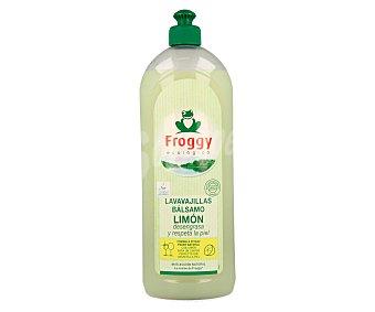 Froggy Lavavajillas a mano concentrado bálsamo limón pH neutro ecológico Botella 750 ml