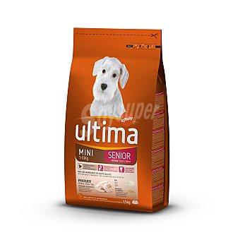 Ultima Affinity Alimento para perros de raza pequeña Special Mini Senior con pollo y arroz  Paquete de 1,5 kg