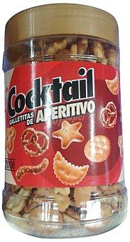 HACENDADO Galleta salada surtida (redondas, palitos, ruedas y peces) BOTE 300 g