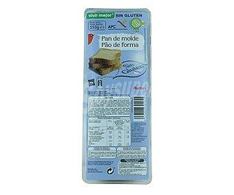 Auchan Pan de molde sin gluten (controlado por la face) 310 gramos