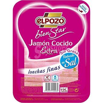 ELPOZO BIENSTAR Jamón cocido extra en lonchas finas  envase 125 g