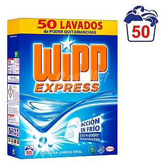 Wipp Express Detergente en polvo coolzyme quitamanchas 50 cacitos