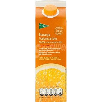 El Corte Inglés zumo de naranja con pulpa 100% fruta envase 1 l