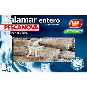 Pescanova Calamar entero Estuche 1000 g neto escurrido