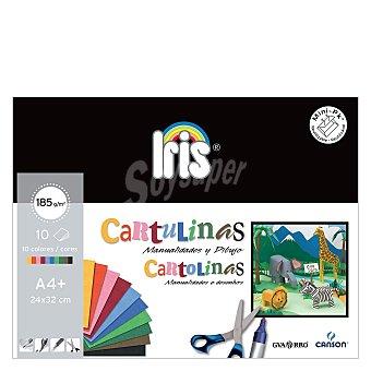 Canson Minipack A4 10 Hojas Cartulinas de Colores 10 ud