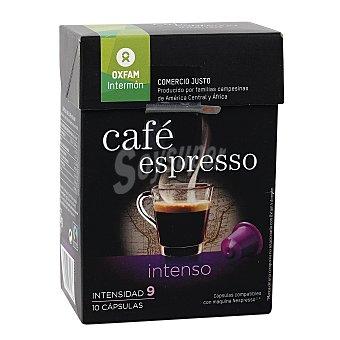 Intermón Oxfam Café intensidad 9 espresso en monodosis 10 uds