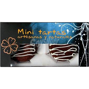 SQUARCIA TARTAS DE AUTOR coulant de chocolate mini tartas artesanas y naturales estuche 240 g 2 unidades