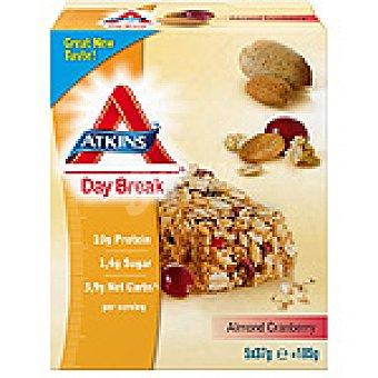 Atkins day break barritas de almendras y arándanos envase 185 g 5 unidades