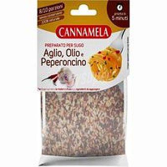 Cannamela Preparado para salsa con ajo-aceite-chile Bolsa 18 g