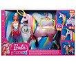 Muñeca Dreamptopia con pelo rosa y unicornio luces mágicas, barbe  Barbie