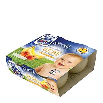 Glenisk Yogur de queso fresco con melocotón y plátano 4 unidades de 60 g