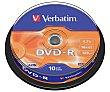 Tarrina de 10 dvd-r 4,7GB 16x verbatim  Verbatim