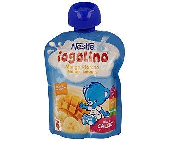 Iogolino Nestlé Puré de mango y plátano con leche formato bolsita pouche envase 90 g Envase 90 g