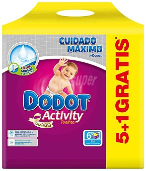 Dodot Activity Toallitas Pack 6x54 ud