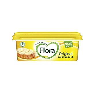 Flora Margarina 3/4 con ingredientes de origen 100% naturales y 100% vegetales original Tarrina 250 g