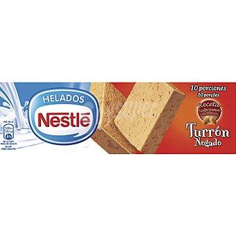 Helados Nestlé Bloque de helado de turrón con trocitos de almendra y Calcio N Estuche 1 l