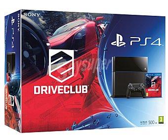 SONY Cónsola Playstatión 4 con Disco Duro de 500Gb + Juego DriveClub 1 Unidad