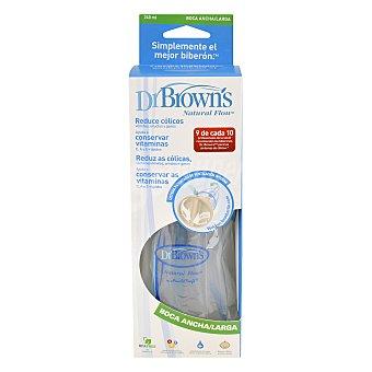 Dr. Brown's Biberón anti-cólico boca ancha/larga 240 ml 1 ud