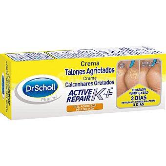 Scholl crema para talones agrietados con active repair K+  tubo 60 ml