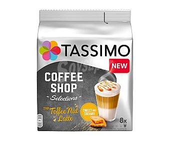 Tassimo Café espresso, cremos con sabor a caramelo con nueces en cápsulas coffee shop 8 uds