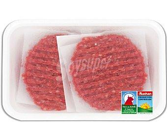 Auchan Producción Controlada Burguer meat de añojo 6 unidades