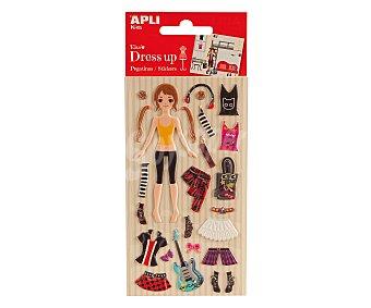 APLI Bolsa de ropa y complementos adhesivos de goma eva para Elsa 1 unidad