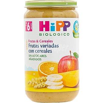 HiPP Biológico Tarrito de frutas variadas con cereales ecologico desde 4 meses Envase 250 g