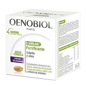 OENOBIOL Fortificante capilar cabello y uñas 30 cápsulas