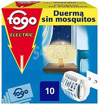 Fogo Insecticida aparato eléctrico con 10 pastillas Caja 1 unidad