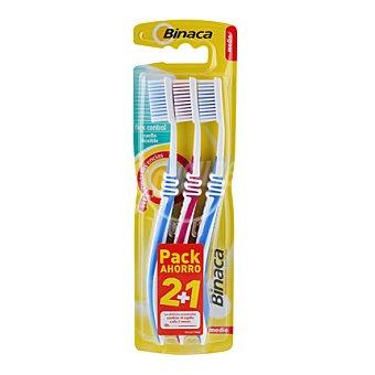 Binaca Cepillo dental flex control medio tripack 1 ud