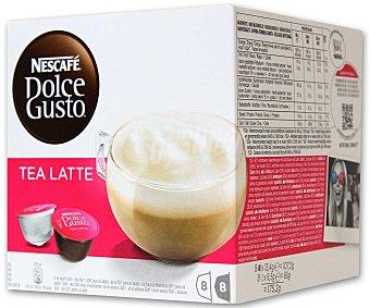 Dolce Gusto Nescafé Tea Latte (combinación entre el aromático gusto del té negro y la cremosidad de un latte ligeramente endulzado) 8 cápsulas té + 8 cápsulas leche