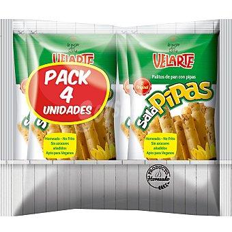 Velarte Palitos de pan crujiente con pipas Velarte Pack de 4 unidades de 40 g