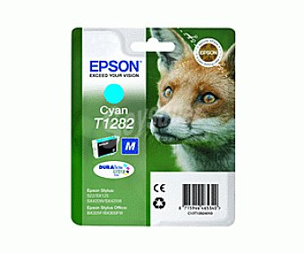 Epson Cartucho Cian T1282- Compatible con Impresoras: stylus S / 22 stylus SX / 420W / 425W stylus office BX / 305F SX / 130