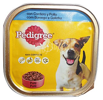 Pedigree Comida perro razas pequeñas pate cordero pollo Tarrina de 300 g