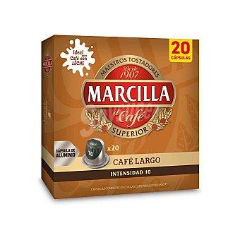 Nespresso Café Largo en cápsulas Marcilla compatible con 20 unidades de 5,2 g