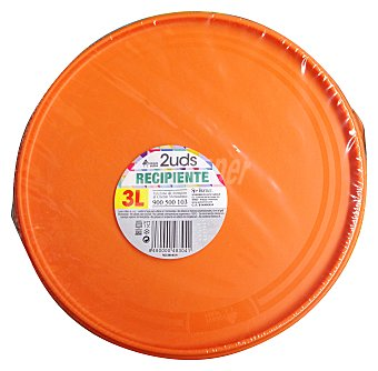 BOSQUE VERDE Hermético plástico multiusos redondo 3 L  Paquete de 2 unidades