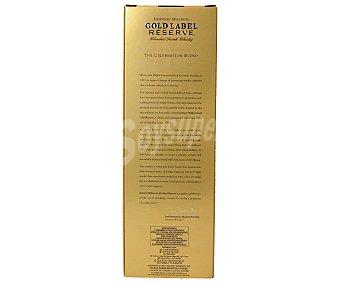 Johnnie Walker Whisky gold label reserva Botella 70 cl