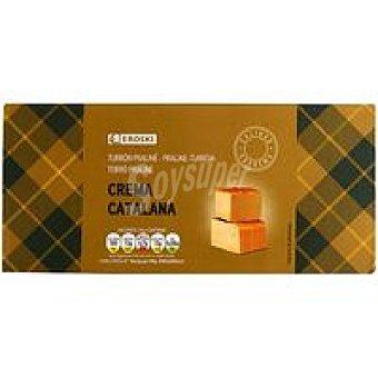 Eroski Turrón praliné de crema catalana Caja 300 g