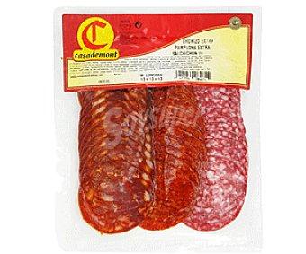 Casademont Variedad de embutidos: Chorizo Extra, Salchichón y Chorizo de Pamplona 300 Gramos