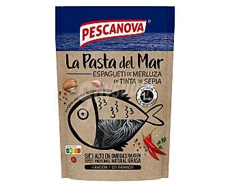 PESCANOVA LA PASTA DEL MAR Espagueti de merluza en tinta de sepia 125 g