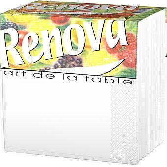 Renova servilletas Art de la Table blanca 2 capas  paquete 80 unidades
