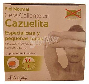 Deliplus Cera de depilar caliente cazuelita facial Caja de 100 g