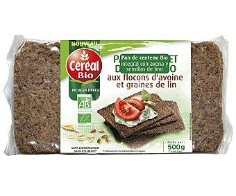 CEREAL BIO Pan de centeno integral con avena y semillas de lino ecológico  envase 500 g