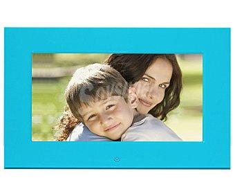 "Braun Marco de fotos digital con panalla de 6.5"", reloj, calencario, mando, color azul 701"