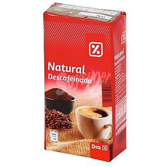 DIA Cafe molido natural descafeinado Paquete 250 gr
