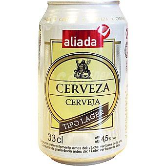Aliada Cerveza rubia nacional lata 33 cl Lata 33 cl